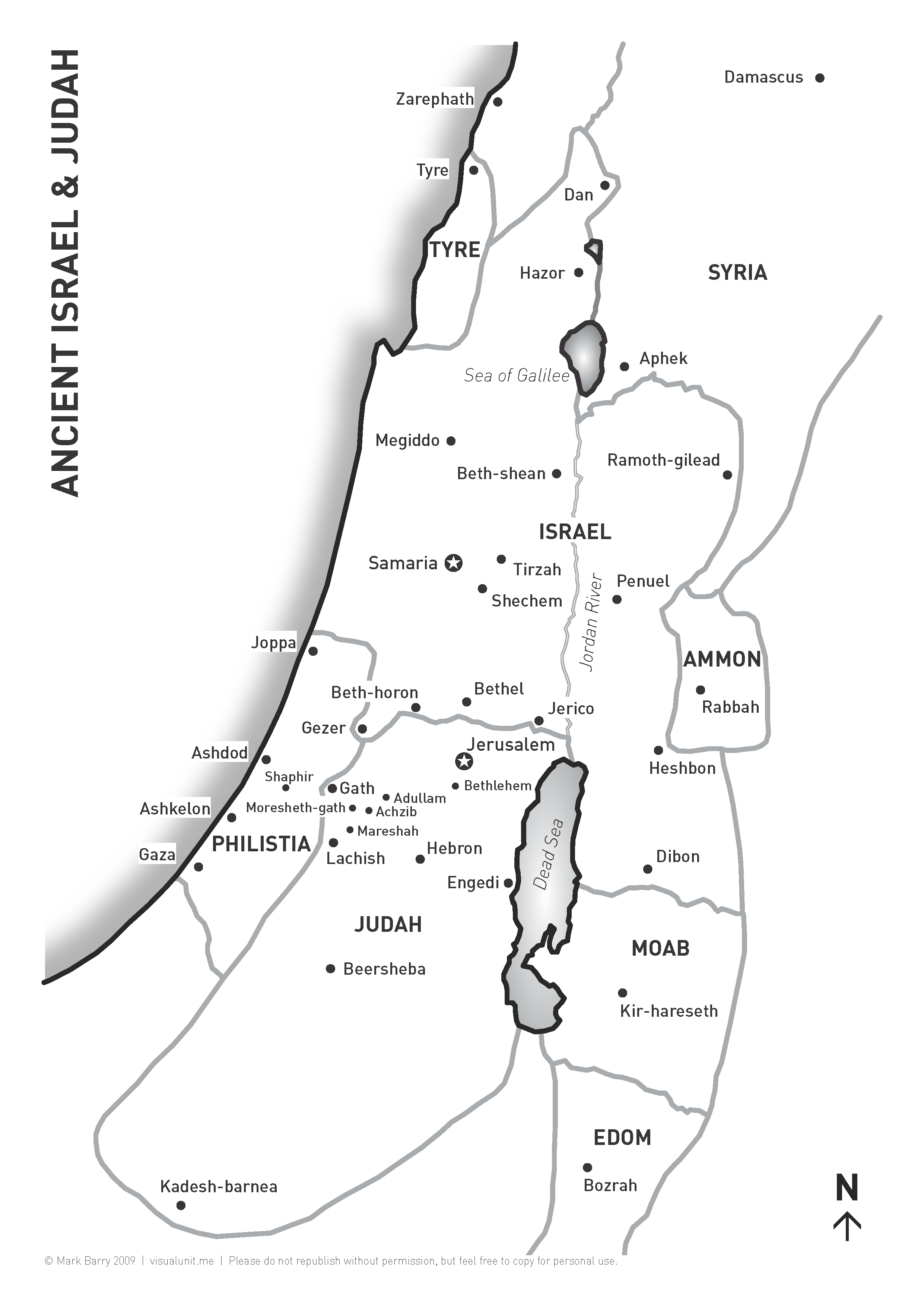 Map of Israel & Judah | VISUAL UNIT