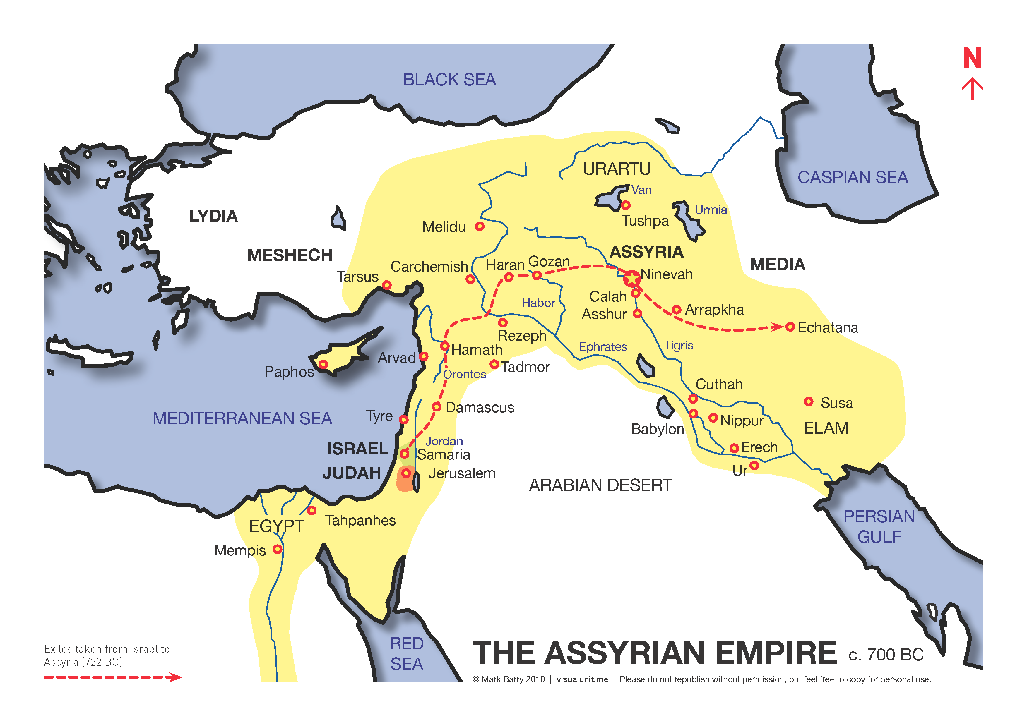 Map of the Assyrian empire | VISUAL UNIT