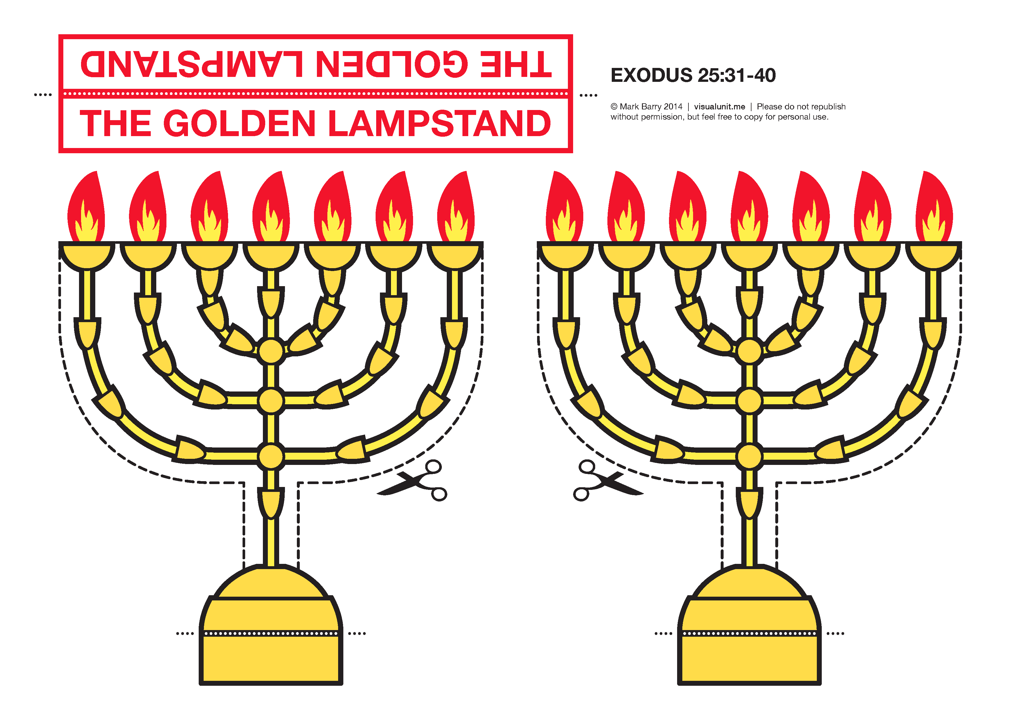 Models of the Tabernacle furnishings | VISUAL UNIT for Seven Golden Lampstands  111ane