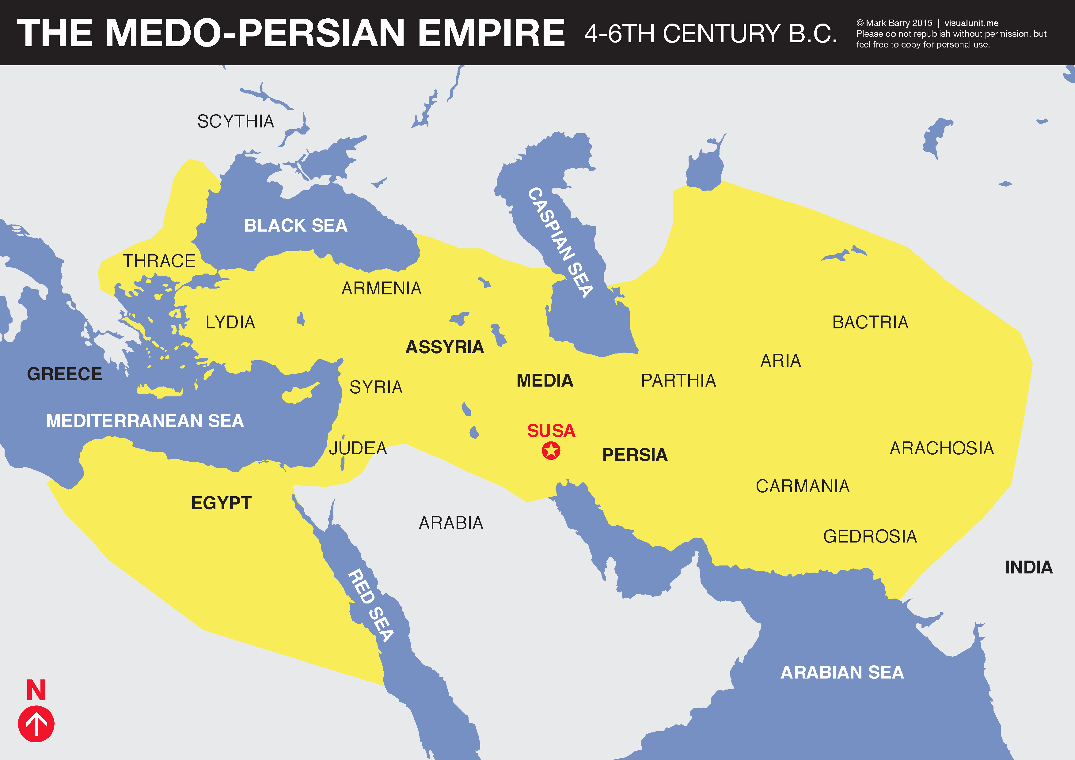 medo persian empire map visual unit