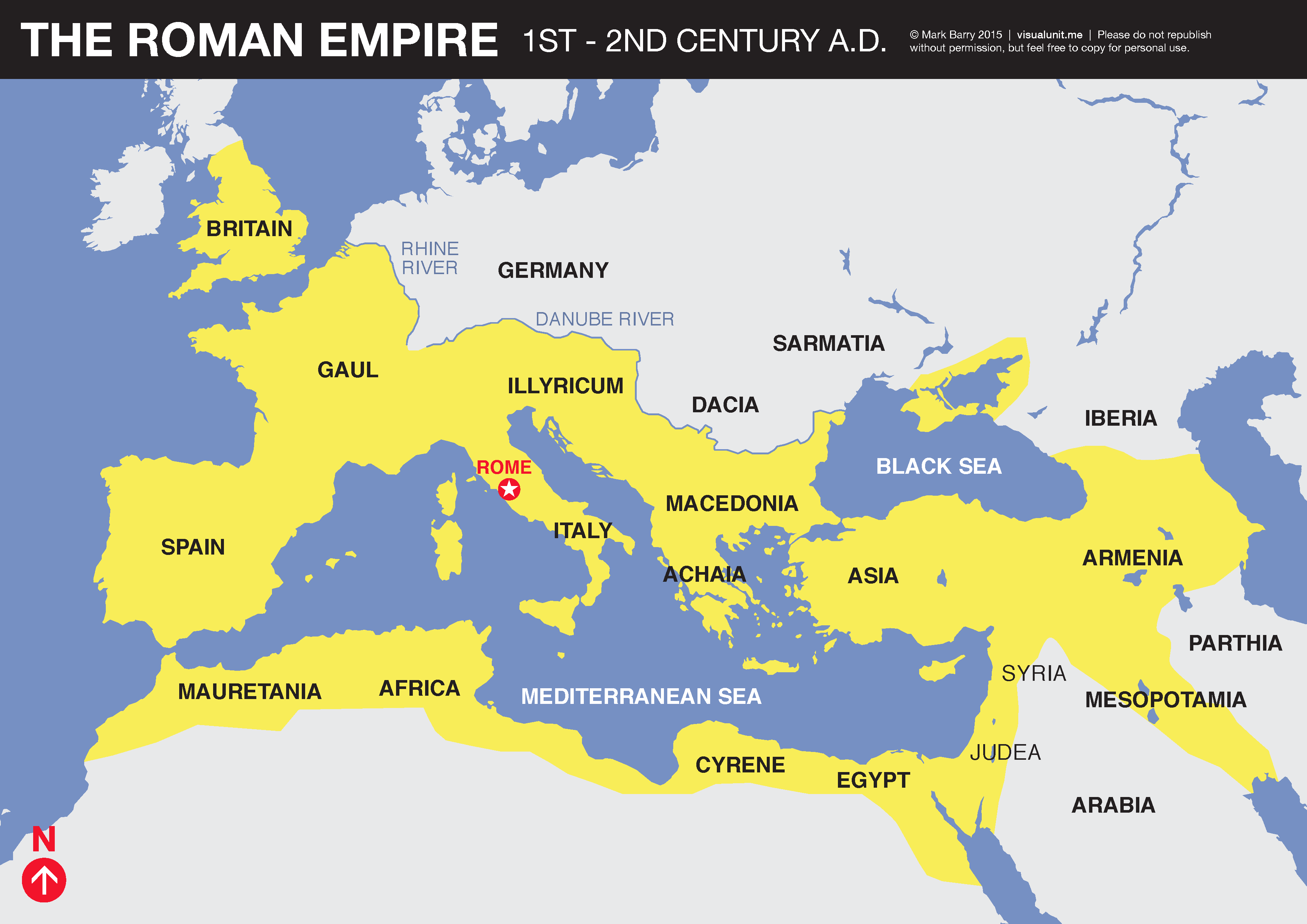 Roman Empire map | VISUAL UNIT